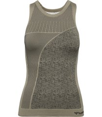 hmlhana seamless top t-shirts & tops sleeveless grön hummel