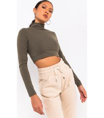 akira snatched 2.0 long sleeve crop top