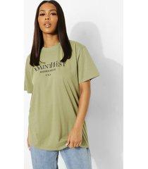 oversized ye saint west-t-shirt, sage