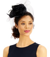 august hats feather flower fascinator