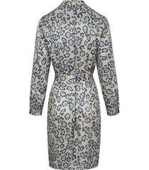 jurk met lange mouwen van looxent grijs