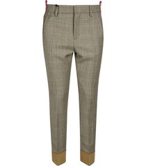 dsquared2 fitted tartan trousers
