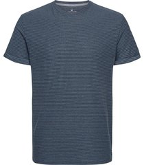 t-shirt with t-shirts short-sleeved blå tom tailor
