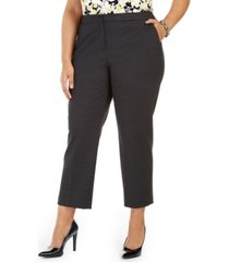 kasper plus size elastic-back pants