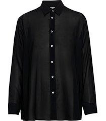 elma clean shirt blus långärmad svart hope