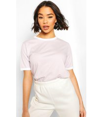 cotton ringer t-shirt, lilac