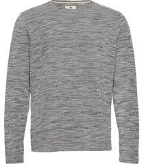 aksail sweat stickad tröja m. rund krage grå anerkjendt