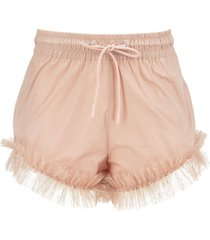 red valentino taffeta and point desprit tulle shorts