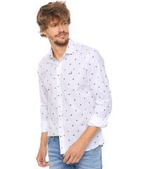 camisa blanca laundry ml claus slim estampada vte.2