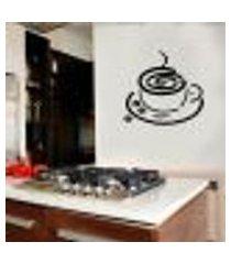 adesivo de parede para cozinha xícara de café 6 - grande