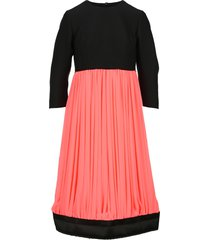 comme des garcons bi colour pleated dress