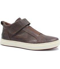 sapatênis zariff shoes em couro marrom