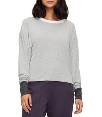 women's michael stars chloe madison brushed colorblock pullover