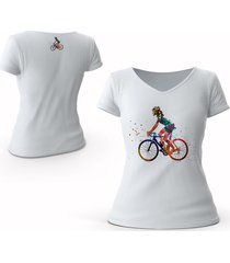 camiseta bike explosion moda mujer denim original
