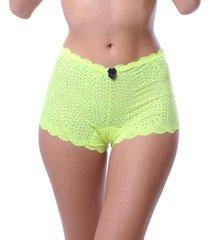 calcinha simony lingerie caleçon renda neon verde - kanui