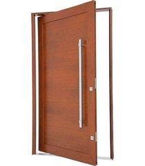 porta pivotante lambris horizontais com puxador alumínio madeira 223,5x126,2x12cm direita aluminium - 72463099 - sasazaki - sasazaki