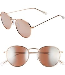 women's bp. 48mm round metal sunglasses - rose gold