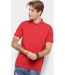 camisa polo cavalera piquet básica lisa masculina