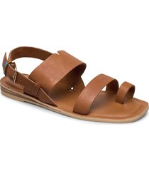 tan veg tan leather shoes summer shoes flat sandals brun toms