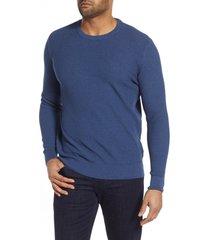 men's stone rose waffle knit sweater, size x-large - blue