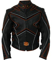custom handmade new men xmen style biker motorcycle leather jacket, biker jacket