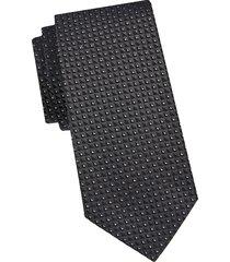 armani collezioni men's printed silk tie - dark grey
