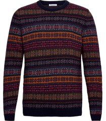 valley multi color jacquard knit - gebreide trui met ronde kraag multi/patroon knowledge cotton apparel