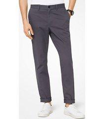 mk pantalone chino slim-fit in twill di cotone - fumo (grigio) - michael kors
