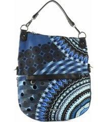 bolsa tiracolo desigual mandala azul