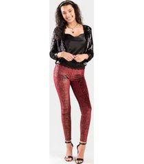 bailey high shine velvet leggings - burgundy