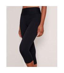 calça corsário feminina esportiva ace básica com proteção uv50+ preta