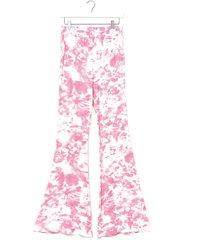 womens choose happy tie dye flare pants - pink