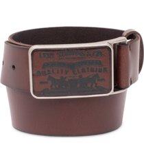 levi's men's logo-buckle leather belt