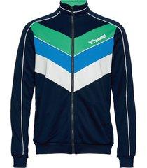 hmlliam zip jacket sweat-shirt tröja blå hummel