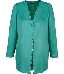 lange blazer m. collection smaragdgroen