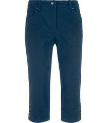 pantaloni capri elasticizzati con cinta confortevole e bottoni. (blu) - bpc bonprix collection