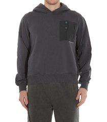 c2h4 post human era layer pocket logo hoodie