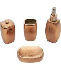 conjunto 4 peças p/banheiro cerâmica lux cooper