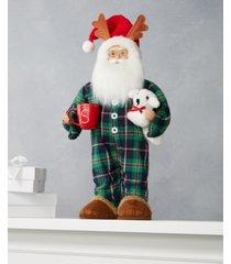 holiday lane pajama santa, created for macy's