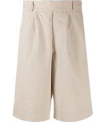 katharine hamnett london pleated-front bermuda shorts - neutrals