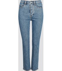 straight selma cropped jeans - blå