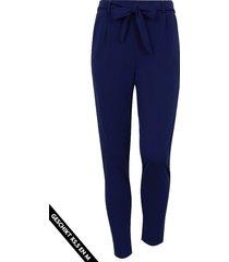 strik broek basic marineblauw