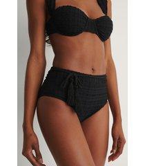 trendyol bikiniunderdel med struktur - black