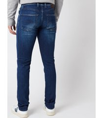 tramarossa men's leonardo slim 5 pocket jeans - denim blue stretch - w35