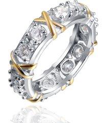 moda semplice stile zirconia intarsio nodo anello regalo per le donne