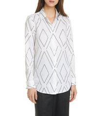 women's equipment essential graphic linen button-up shirt