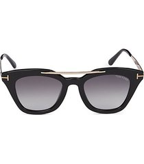 49mm square sunglasses