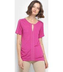blusa colcci recorte manga curta feminina