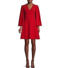 cape-effect mini dress