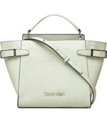winged top handle to bags top handle bags groen calvin klein